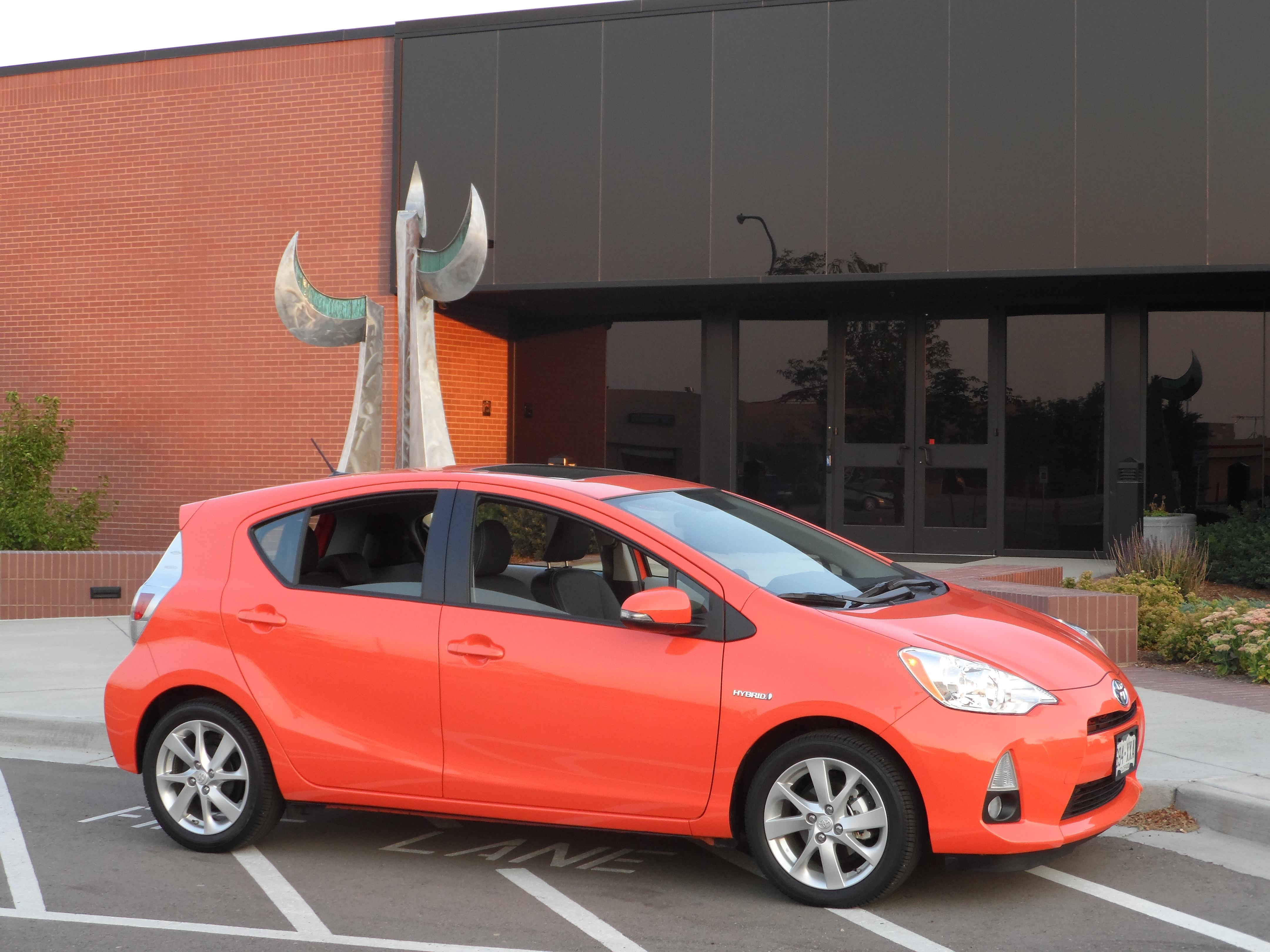 """Evolution Orange"" 2012 Toyota Prius C – Stu s Reviews"