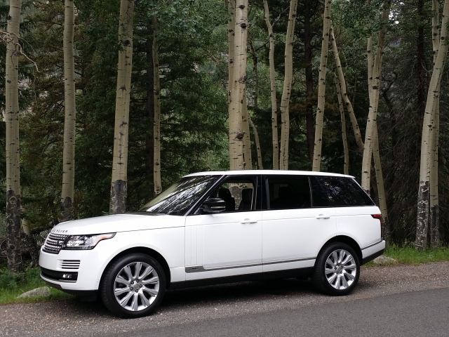 2015 Range Rover LWB that I drove to Rocky Mountain Nat'l Park to test for AAA EnCompass magazine.